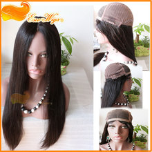 customer order lace front wig with back weft invisible cap human hair wigs peruvian virgin hair straight