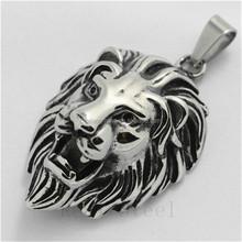 Stainless Steel Men Gothic Lion Animal King Pendant