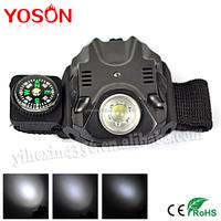 BORUIT promotional led wrist flashlight with watch flashlight compass