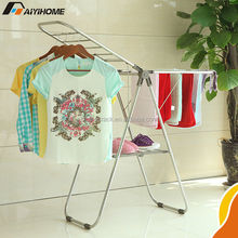 Multifunctional hanging cloth drying rack,Gullwing laundry steel hanger,Foldable clothes drying rack