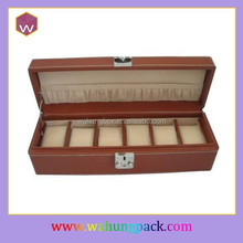 fancy leather brown watch box&packaging boxes for watches (WH-0510-JP)