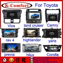 K-comfort good quality 8 inch for toyota crown car radio for sale