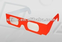 Fireworks Glasses with paper frame in different colors for Neon,Diffraction,Grating Glasses