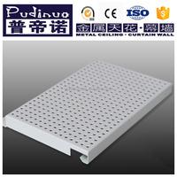 Perforated decorative aluminum ceiling tiles