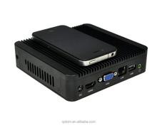 Mini Desktop PC Computer Mini Thin Client Q180 With Intel Celeron J1800 processor WIFI 12V Fanless mac mini
