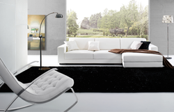 2015 Hot Sale Modern white L-shaped genuine leather Corner Sofa in living room , Luxury leather sofa for sale