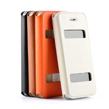 Solid Color genuine leather mobile accessory for iphone 5 case