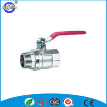 CE approval long handle cheap 600 wog brass water ball valve dn25