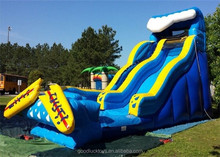 bespoke unique popular stype slide city/multifuntional inflatable water slide/slide with basketball hoop