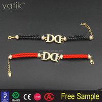 DD Letter Sign Gold Plated Zinc Alloy braid bracelet jewelry colorful rope for choose girl lady women fashion wear
