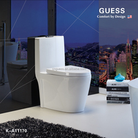 Hot sale sanitary wares,siphonic one-piece toilet,white color toilet K-A11170
