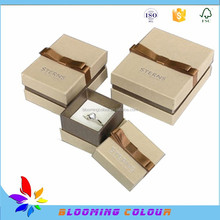 Manufacturer of luxury brand jewelly box/custom cardboard necklace box/ring box