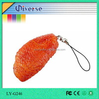 lower price fashion chicken wing shape silicon memorias usb 3.0