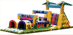 Adrenaline Maze Double Obstacle Course, Giant Inflatable Obstcale Games For Kids and Adult
