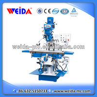 X6332C knee type drilling milling machine with taiwan variable speed turret milling head