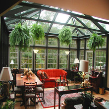 Modern household design aluminium glass sunroom