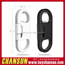 Chansun bottle opener micro usb data cable,data cable for iphone new design