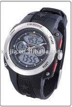 LCD fashion sport 5atm water resistant dual display digital analog watch
