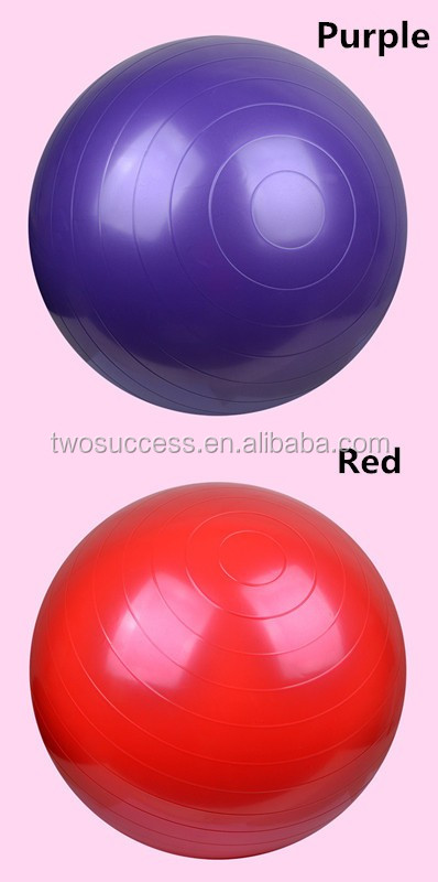 gym ball with pump high quality PVC yoga ball