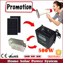 500W Off Grid PV system for small home solar power kits