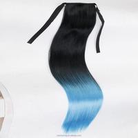 2016 fashion human hair ponytail ombre kanekalon synthetic hair