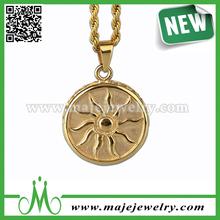 Personalized hip hop chain gold sun pendant men jewellery
