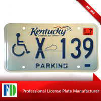 KENTUCKY Handicapped Person license plate,classic car logo license plate