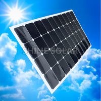 Monocrystalline solar cell,100w 120w Monocrystalline Silicon Material semi felxible solar panel