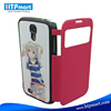 High Quality PU Leather Flip Phone Case for Samsung S4 Miniwith Screen Window