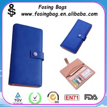 High quality Soft PU leather woman wallet with multi function
