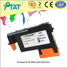 On sale for hp 940XL (C4906AN C4907AN C4908AN C4909AN) 2pcs/set 4 color remanufactured printhead with ink cartridges