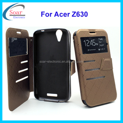 view window wallet flip PU leather case cover for Acer liquid Z630
