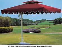 Lateral sombrilla paraguas cuadrado, aluminio barato patio exterior parasol