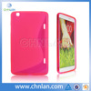 Candy color S design rubber TPU case for LG G PAD 8.3 V500