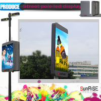 P6 outdoor led display, P6 double side light pole led full color display, P6 led tv display panel
