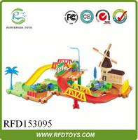 Hot product plastic electric building blocks toys mini train for kids,cheap rail car