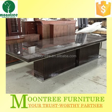 Moontree MDT-1167 modern high gloss stainless steel base dining table