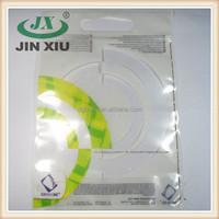 Laminated ziplock bottom gusset handle bag