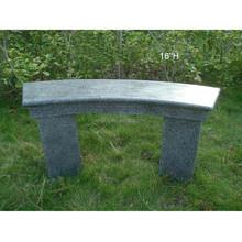 Outdoor cast fiberstone concrete garden bench