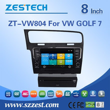 8 inch touch screen car dvd player lfor VW GOLF 7 support GPS/Bluetooth/Radio SWC/Digital TV/3G internet/WIFI/ATV/DVR function