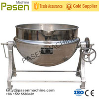 Industrial automatic gas cooking mixer