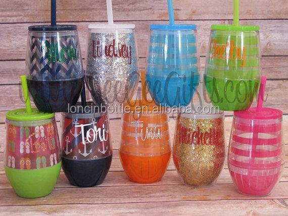 Wholesale acrylic adult wine tumbler oz