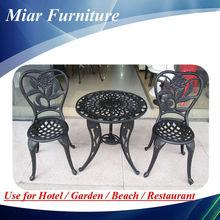 Dış mekan mobilya dökme demir masa ve sandalye 101223f+201223z