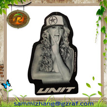 Custom hanging logo print air freshener &2015 Promotion Sexy Giveaway Paper Air Freshener For Car