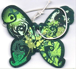 butterfly shap hanging paper car air freshener