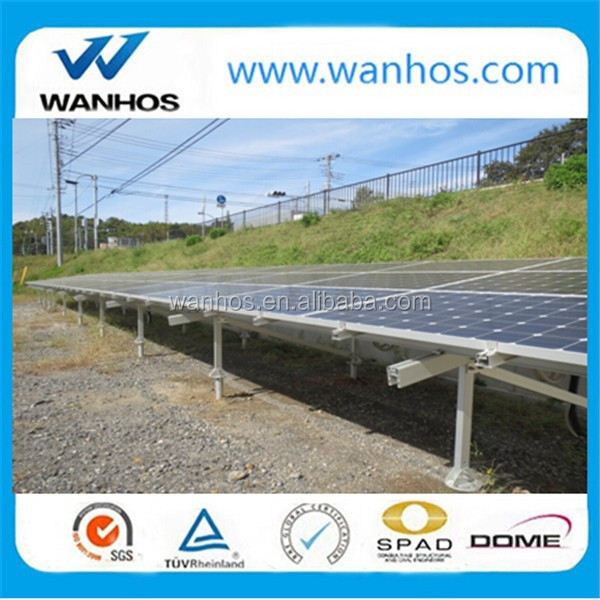 Ground screw mounted solar rack system