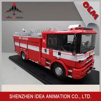 2015 Scale metal model fire trucks low price rc model truck 1 4