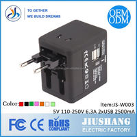 2015 the best Christmas gift travel adapter with 2XUSB 2100mA