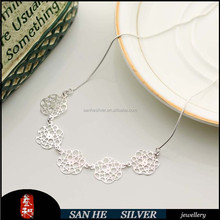 SANHE SILVER 2015 New arrival fashion women 925 silver Necklaces