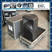China Factory Customized Blue Speaker Rack Case With Casters And Foam For 2*JBL Speakers